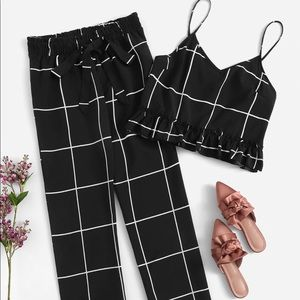 Dresses & Skirts - Two piece - Hem ruffle top with pants set